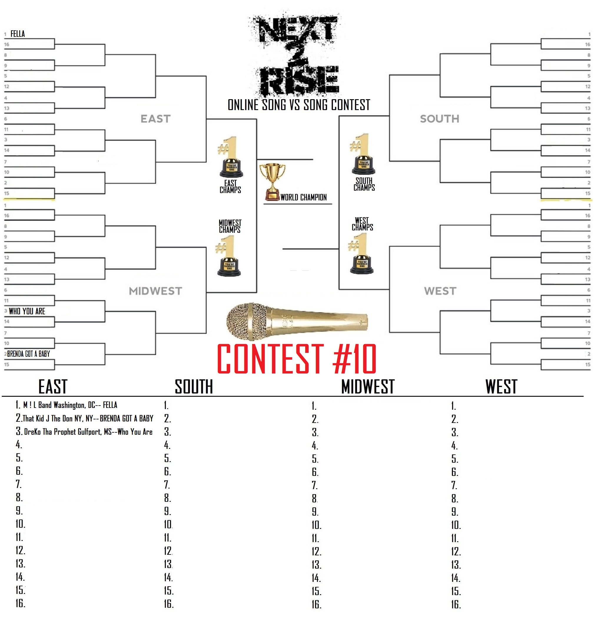 27TH CONTEST #10 EAST BRACKET